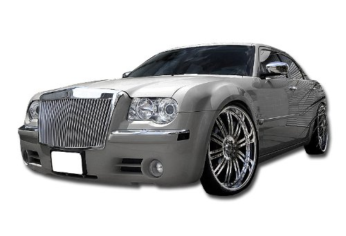 Chrome 300C Rolls-Royce Style ABS Silver Vertical Grill Remix Custom Front Grill For 2005-2010 Chrysler 300