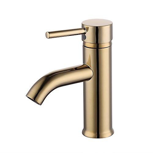 gold bathroom sink faucet - 6