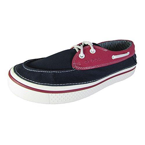 crocs Men's Hover Boat Shoe,Navy/White,12 M US