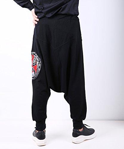 Hiver A Élastique Harem Homme Taille Gym22 Pantalon Ellazhu Ample Gym127 Unique qaPx5