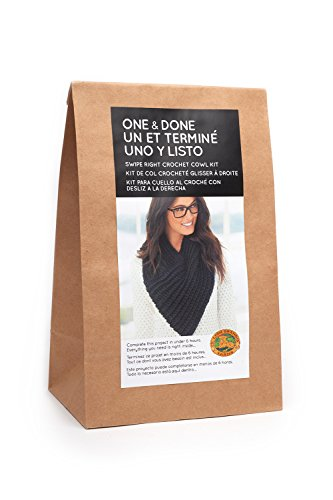 (Lion Brand Yarn One & Done Kits 606-153 Swipe Right Crochet Cowl)