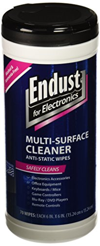 Endust for Electrioncs Pop-Up, Pre-Moistened, Anti-Static & Non-Streak Screen Cleaner Wipes, 70-Count (Endust Electronics compare prices)