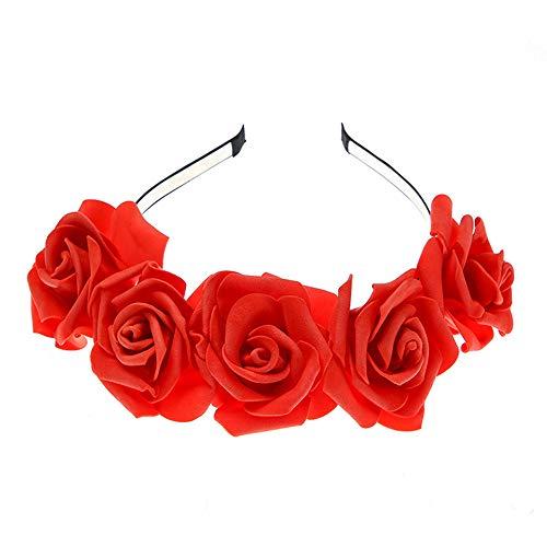 Headband, Starcy Rose Women'S Fresh Flower Photo Photography Wedding Vacation Headband from starcy Headwear