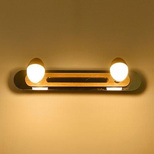 Moderne, einfache Massivholz Badezimmer Spiegel vorne Licht Bad Schminktisch Wandleuchte Spiegelleuchte Licht Gang Spiegelschrank Beleuchtung am Bett Beleuchtung Neue (Farbe LED  37 cm)
