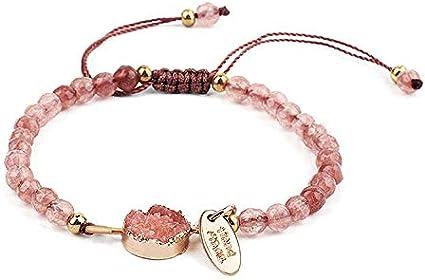 Montebello Pulsera Absil rosa Bijoux – piedra natural – cuarzo – ajustable