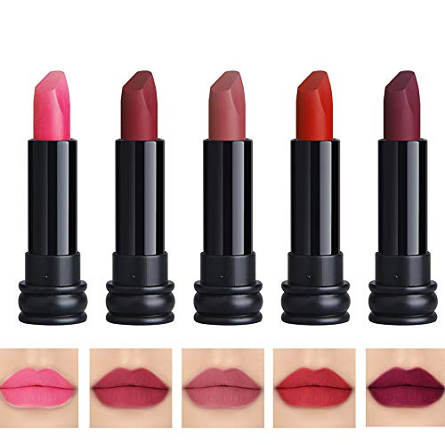 5PCS Matte Lipstick Set Matte Silky Velvet Waterproof Lipstick Lasting Non-stick Cup Lipstick (4)