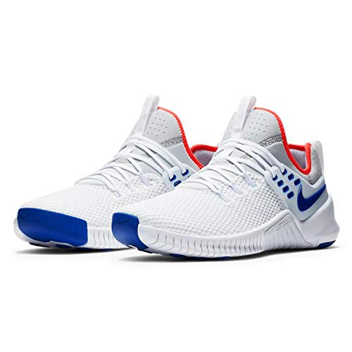 Nike Mens Free Metcon Cross Trainer Shoe (11.5, White/Racer Blue/Pure Platinum)