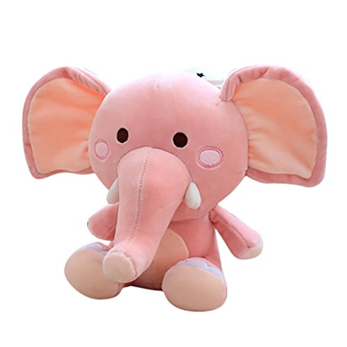 Gbell Adults Child Kids Elephant Cuddle Fluffy Stuffed Plush Animal Toys Kawaii Stress Reliever Toy  Pink