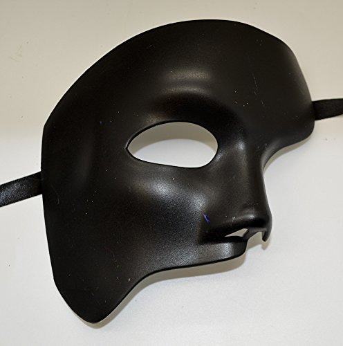 Amazon.com: New 2015 Style All Black Plain Mask Masquerade Mask Party Mask Men Mask: Home & Kitchen
