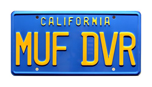 Celebrity Machines Cheech & Chong's Up in Smoke | MUF DVR | Metal Stamped License Plate