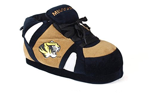 MIS01-5 - Missouri Tigers - XX Large - Happy Feet Men's and Womens NCAA Slippers