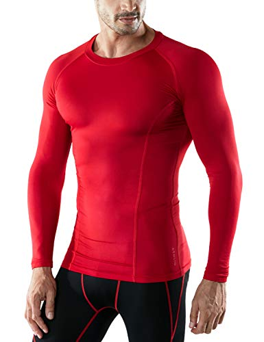 ATHLIO AO-BLS01-KCR_Large Men's (Pack of 3) Cool Dry Compression Long Sleeve Baselayer Athletic Sports T-Shirts Tops BLS01 by ATHLIO (Image #2)