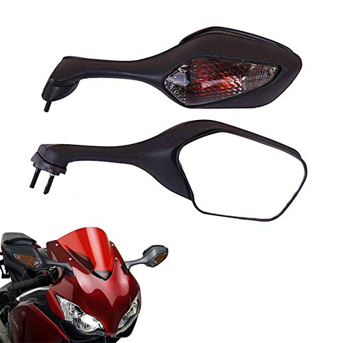 kemimoto Fits 2008-2017 Honda CBR1000RR Mirrors SC59 CBR 1000RR With Turn Signal Light Rear View Mirror