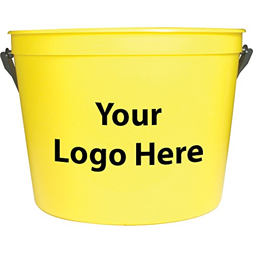 64 Oz. Pail with Handle - 250 Quantity - $1.60 - PROMOTIONAL PRODUCT / BULK / BRANDED with YOUR LOGO / (5 Quart Galvanized Metal Bucket)
