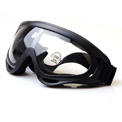Uv400 Eyewear - Viriber Snow Googles Windproof UV400 Motorcycle Snowmobile Ski Bicycle Riding Goggles Eyewear Sports Protective Safety Glasses (Transperant-Lens)