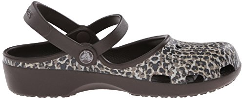 W Marron Crocs Femme Sabots Leopard Karin Espresso qSp7w6PaZ7