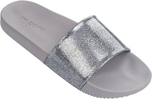 Silver Zoccoli Zaxy glitter black donna Glitter w78vYAq