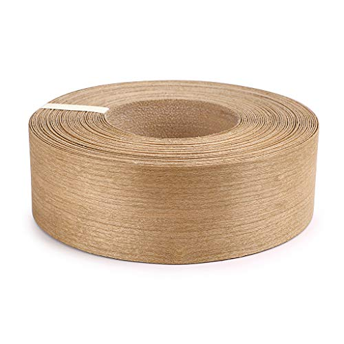 Skelang Cherry 2 X 50 Roll Wood Veneer Edge Banding Preglued Iron-on with Hot Melt Adhesive Edgebanding Flexible Wood Tape