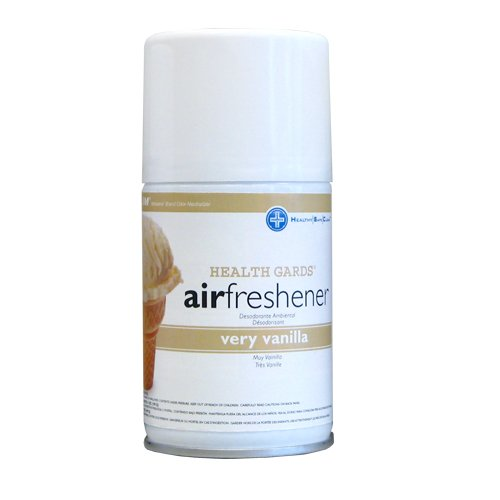 - Health Gards Very Vanilla Metered Aerosol Air Freshener, 7 oz Can (Case of 12),  Hospeco 07915
