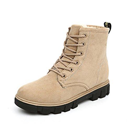 Altijd Mooie Plateau Sneaker Schoenen Voor Dames Winter Dames Lace Up Katoenen Snowboots # 2ivory