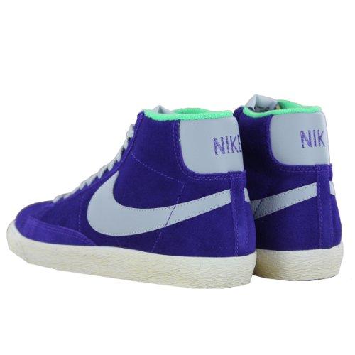 Nike - blazer mid prm vntg suede - 538282-500-40.5 - 7.5 - bleu baskets mode homme