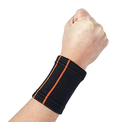 JINSEQ 1PCS Breathable Knitted Wristbands Sport Sweatband Cotton Yarn Wrist Support Brace Wraps Guards For Gym Volleyball Basketball Sport Estimated Price £16.02 -