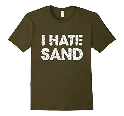 Men's I Hate Sand T-Shirt - Funny Military Deployment Army Tee XL (Coast Guard Boots)