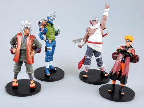 Japanese-Anime-Naruto-Shippuden-Figure-Collection-4-Piece-Set-2-Hatake-Kakashi-Naruto-More