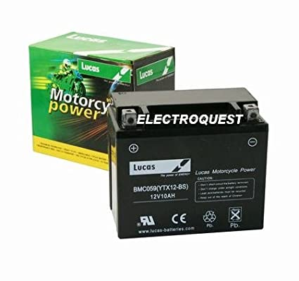 Lucas YTX12BS Motorbike Battery
