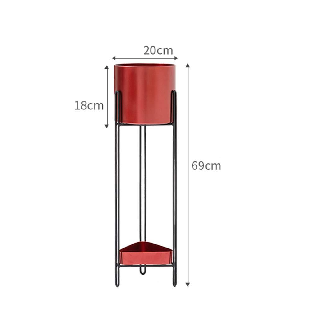 Rack Shelf Iron Art Simple Planta de Suelo de Mediados de Siglo Soporte para macetas de Interior Decoración para el hogar Moderna (sembradora no incluida) ...