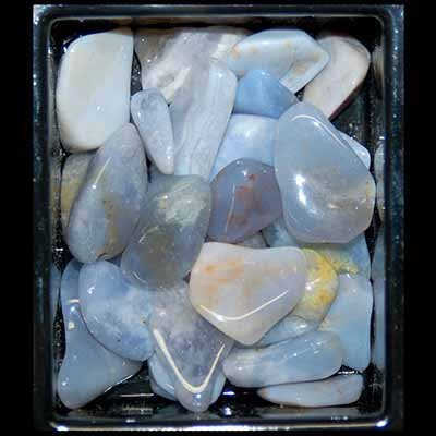 Tumbled Blue/Brown Chalcedony (Mostly 5/8