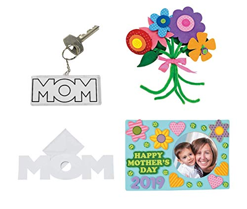 Mothers Day Crafts for Kids | Happy Mother's Day 2019 Frame, Flowers, Keychain and Card