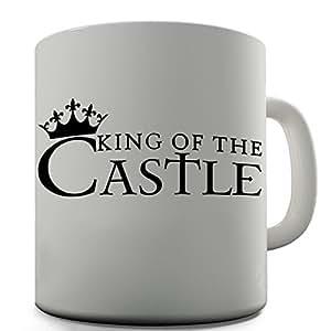 Trenzado Envy King of el castillo de cerámica taza divertida