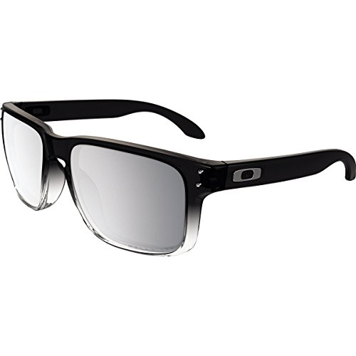 Oakley Holbrook Square Sunglasses, Grey Ink Fade w/Chrome Iridium Polarized, 57 - Polarized Iridium