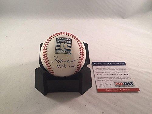 (Autographed Tom Glavine Ball - Hall Of Fame 2 Hof 14 - PSA/DNA Certified - Autographed Baseballs)