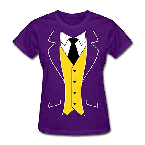 [Cool Tuxedo Costume Women's T-Shirt by Spreadshirt, M, purple] (Womens Tuxedo Costumes Tshirt)