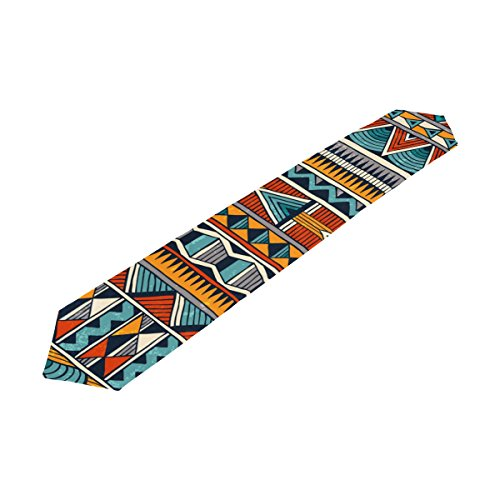 super3Dprinted African Art Tribal Print Rectangle Table Runner, for Office Kitchen Wedding Party Home Decor, 13 x 90 Inch