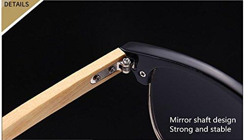 Bambú Blue Para Lente De Sol Pescar De De De Gafas Blue Gafas Hombre MYLEDI PC Polarizadas Marco R0ZwS