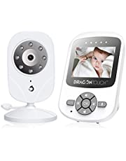 Dragon Touch DT24 Pro Video Baby monitor with Camera, Two-Way Audio Baby Camera Monitor, Infrared Night Vision, Lullaby, Up to 1000ft Range, VOX Auto Wake-Up 4 in 1 Connection, 2X Digital Zoom (2.4 Inch)