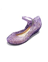 Girls Queen Dress up Cosplay Jelly Shoes for Kids Toddler Dance Party Sandals