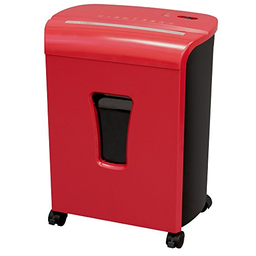 Sentinel FM101P-RED 10-Sheet High Security Micro-Cut Paper/Credit Card Shredder with 3.5 gal Pullout Waste Basket Red