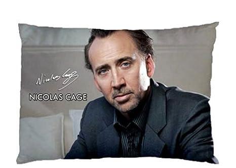 Daily Necessities Custom Nicolas Cage Funda de Almohada Caso ...