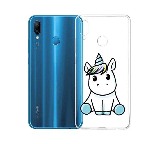 Funda para Huawei Nova 3e / Huawei P20 Lite , IJIA Transparente Adorable Pony TPU Silicona Suave Cover Tapa Caso Parachoques Carcasa Cubierta para Huawei Nova 3e / Huawei P20 Lite (5.8) LF22