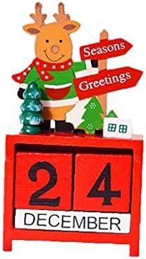[해외]Countdown To Christmas Wooden Blocks Advent Calendar Santa Claus Ornaments / Countdown To Christmas Wooden Blocks Advent Calendar Santa Claus Ornaments
