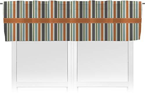 RNK Shops Orange & Blue Stripes Valance (Personalized)