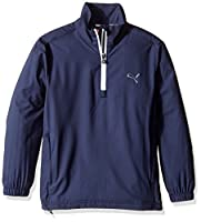 PUMA Golf Junior Boys 1/2 Zip Wind Jacket