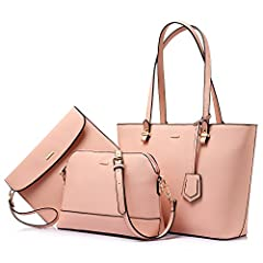 Partitioned,priced affordable,presented nicely,are all the features of this fashionable bags set.The material is durable and this set purses is practical.It has plenty of organized storage and it is a chic way to keep all your essentials righ...