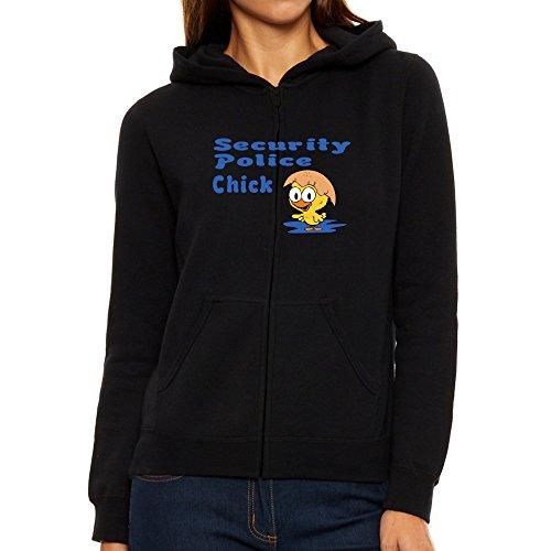 Eddany Security Police chick Felpa con cappuccio da donna