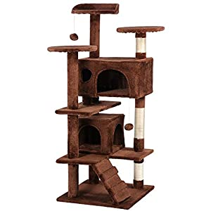 "Yaheetech 51"" Cat Tree Furniture Tower 53"