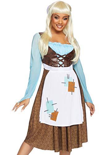 Leg Avenue Women's 2 Pc Peasant Cinderella Costume, Multi, Medium]()